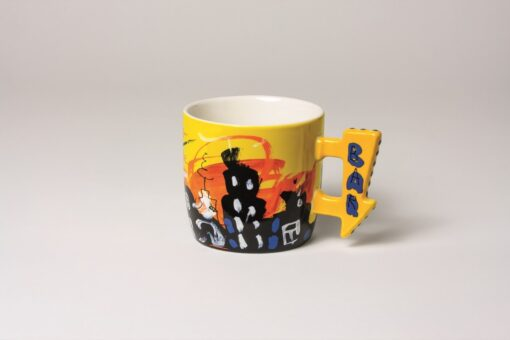 Coffee/Tea Mug round Yellow 1