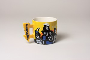 Coffee/Tea Mug round Yellow
