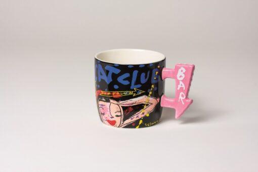 Coffee/Tea Mug round Black 1
