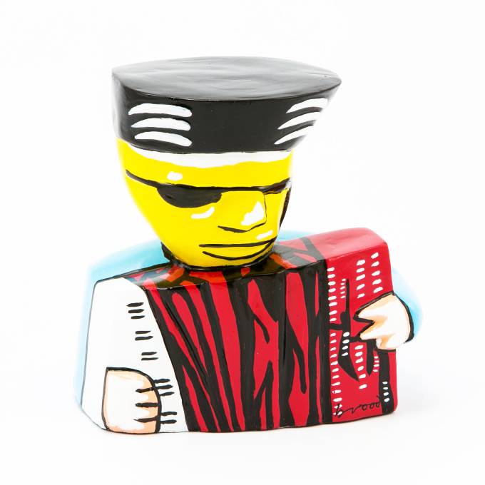 herman brood beeld accordeonist