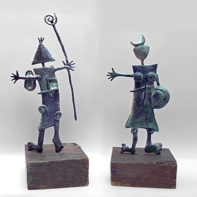 hombre-y-mujer-bronces