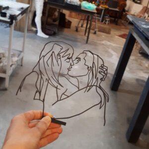 Laat me main kunstenaars