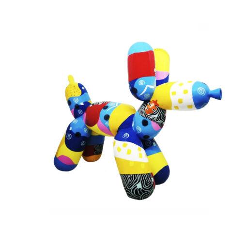 dog patchwork blue
